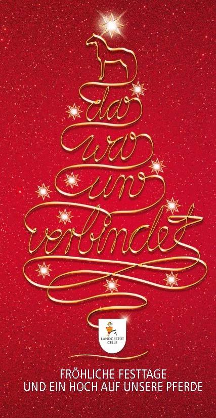 Weihnachtsessen Celle.Frohe Weihnachten Niedersächsisches Landgestüt